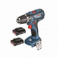 bosch blue gsr 18 2 li plus cordless drill driver with 2 x