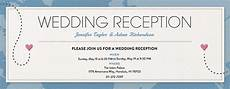 wedding reception card templates free welcome and wedding reception invitations evite