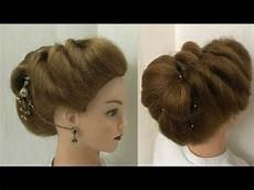 2 easy beautiful hairstyles for wedding or function прически youtube