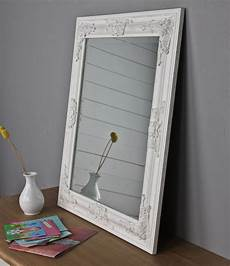 spiegel weiss spiegel 62x52 cm wandspiegel barock wei 223 holz landhaus