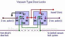 Wire Diagram Power Door Lock by Door Locks Vacuum Type Type E Relay Wiring Diagram