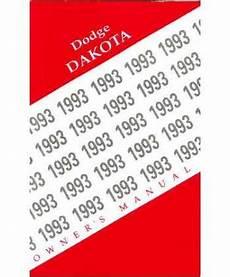 vehicle repair manual 1993 dodge dakota on board diagnostic system 1993 dodge dakota owners manual