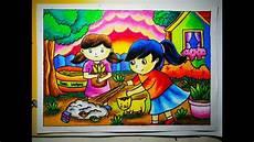 How To Draw Cara Mewarnai Gradasi Crayon Oilpastel