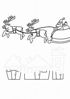 Malvorlage Schlitten Weihnachten Kostenlose Malvorlage Weihnachten Weihnachtsmann Im