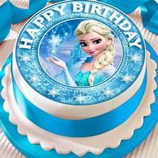 Malvorlagen Frozen Happy Birthday Frozen Elsa Precut Edible Happy Birthday Border Cake