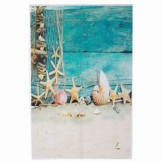 3x5ft Vinyl Summer Blue Coco by Backdrops 3x5ft Summer Shell Blue Wood Wall