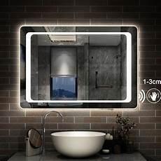 led spiegel touch sensor sensor schalter lichtspiegel 80 100 cm spiegel mit