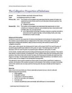 the colligative properties of solutions 9th 12th grade lesson plan lesson planet