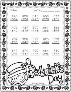 s day worksheets grade 2 20361 free 3 nbt 2 st s day themed 3 digit subtraction with regrouping 2nd grade math