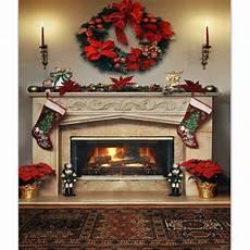 7x5ft Fireplace Photography Backdrop Vinyl