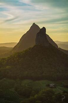 volcanic plugs formed 26million years ago glass house mountains qld australia 1365x2048 oc