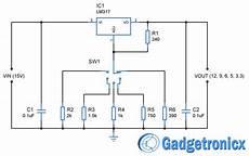 12v 9v 6v 5v 3 3v Voltage Power Supply