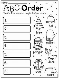 abc order worksheets 15559 winter math and literacy worksheet pack grade grade worksheets 1st grade