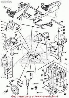 1975 yamaha dt 125 wire schematic yamaha dt125 1976 usa electrical schematic partsfiche
