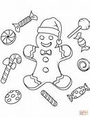 Christmas Gingerbread Coloring Page  Free Printable