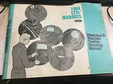 free service manuals online 1984 ford ltd crown victoria transmission control 1984 ford ltd mercury marquis electrical diagnosis vacuum wiring diagrams manual ebay