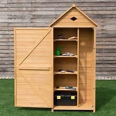 giantex single door outdoor storage cabinet unit fir