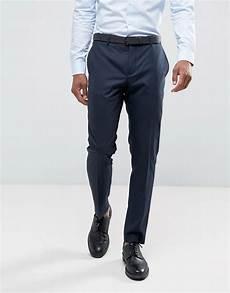 jones premium slim fit suit trousers in navy asos