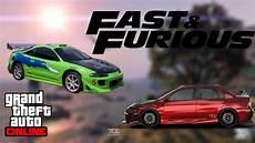 10 voitures de fast and furious sur gta gta5