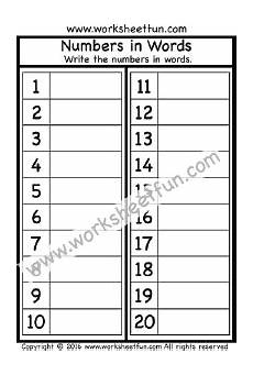 number spelling worksheets for kindergarten 22496 numbers in words 1 20 one worksheet spelling worksheets free printable worksheets
