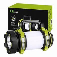 le portable led cing lantern usb rechargeable 2600mah