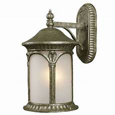 silver and white seedy glass exterior wall light