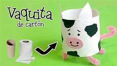 como hacer una vaca de material reciclado vaca en material vaca de cart 243 n manualidades con reciclaje youtube