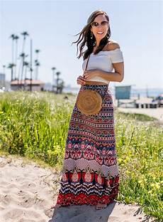 Boho Chic Style In A Maxi Skirt Sydne Style