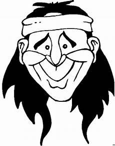 lachender indianerkopf ausmalbild malvorlage comics