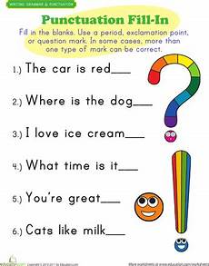 punctuation worksheets commas and stops 20715 punctuation exercises grade writing punctuation worksheets kindergarten writing