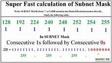 subnet mask fast calculations marathi