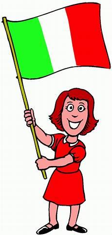 maedchen mit flagge italien ausmalbild malvorlage l 228 nder