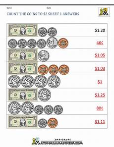 2nd grade money worksheets up to 2