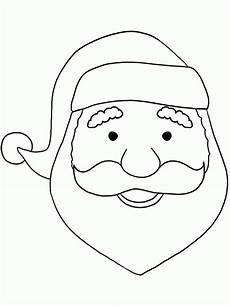 santa claus with no beard coloring page coloring home