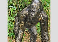 Large Metal Garden Sculpture Stately Statues Gorilla