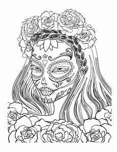 ausmalbilder erwachsene horror arteterapie vysm 225 t 233 lebky skull coloring pages