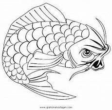 karpfen koi 1 gratis malvorlage in fische tiere ausmalen
