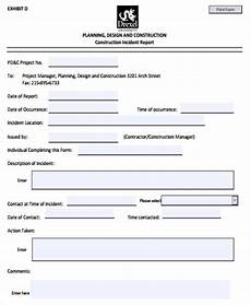 construction accident report form template construction incident report template 17 free word pdf format download free premium