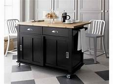 Kitchen Island Cart Australia by Black Kitchen Islands With Wheels And Chair Decoration