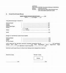 inilah format surat kuasa pajak syarat penggunaannya
