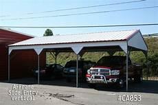 a frame vertical roof carports metal carports vertical carport