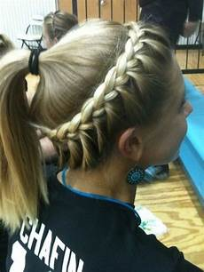 softball hair braided hairstyle ponytail for sports hairstyles weekly