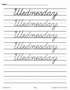cursive handwriting worksheets days of the week 21350 7 days of the week cursive handwriting worksheets cursive handwriting practice cursive