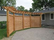 terrasse sichtschutz holz practical outdoor privacy screens for your yards
