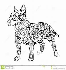 dessin bull illustration de vecteur de livre de coloriage de chien de bullterrier illustration de vecteur