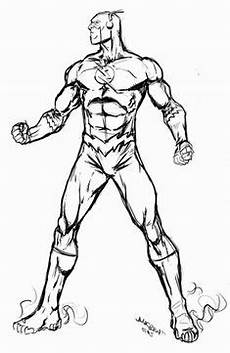 Malvorlagen Superhelden Classic Flash Coloring Pages Coloring