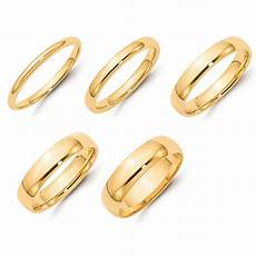 solid 14k yellow gold 2mm 3mm 4mm 5mm 6mm plain comfort