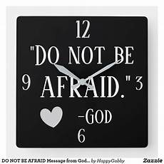 do not be afraid message from god beautiful square wall