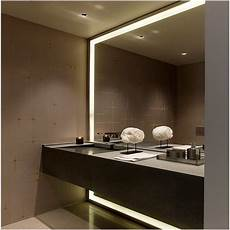 ultra large bathroom mirror in lighted frame design superb and futuristic look you can get by
