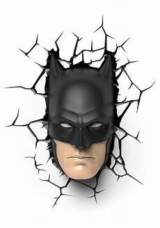 batman mask 3d wall light